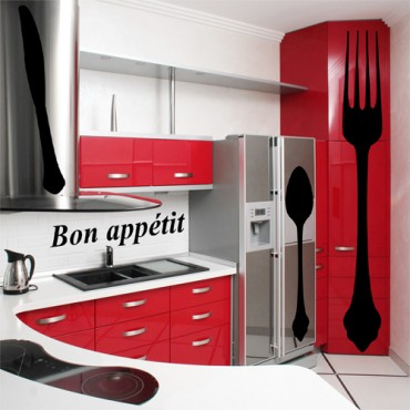 kit 4 stickers cuisine achetez vos stickers moins cher. Black Bedroom Furniture Sets. Home Design Ideas