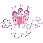 Stickers Chateau Nuages