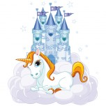 Stickers Licorne Chateau