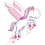 Stickers Poney Coeur