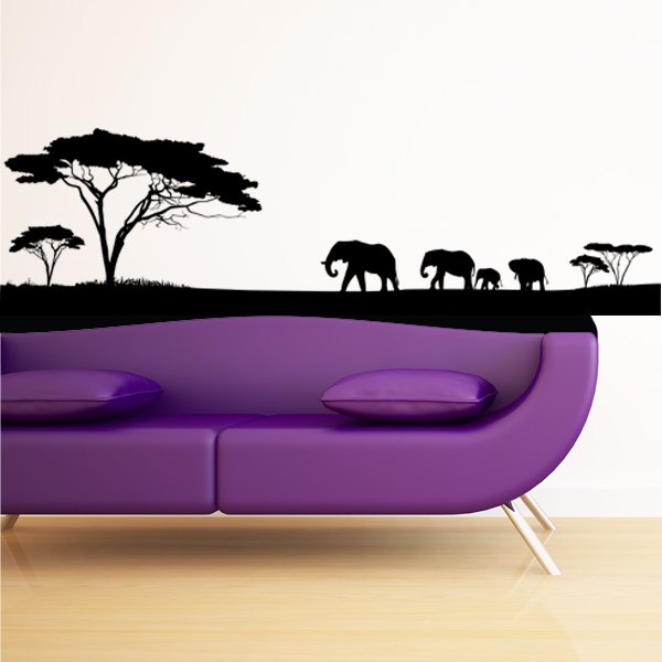 stickers africain pour porte. Black Bedroom Furniture Sets. Home Design Ideas