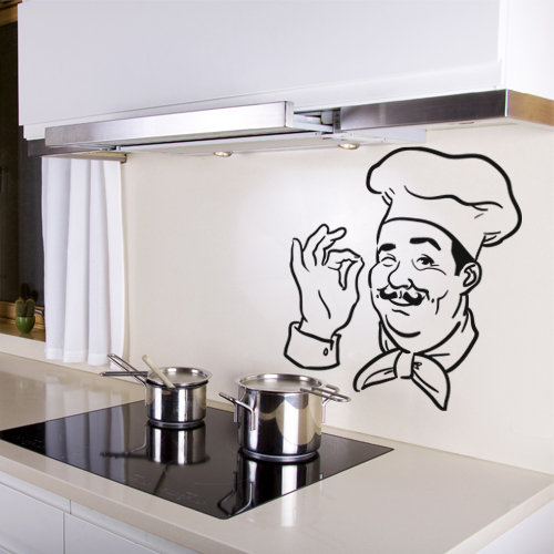 Stickers chef cuisine achetez vos stickers moins cher for Stickers carrelage cuisine leroy merlin