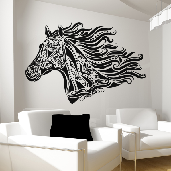 stickers cheval achetez vos stickers moins cher. Black Bedroom Furniture Sets. Home Design Ideas