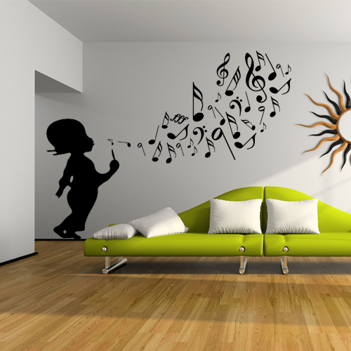 stickers enfant musique achetez vos stickers moins cher. Black Bedroom Furniture Sets. Home Design Ideas