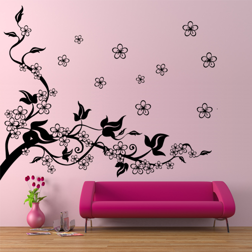 stickers fleur de cerisier achetez vos stickers moins cher. Black Bedroom Furniture Sets. Home Design Ideas