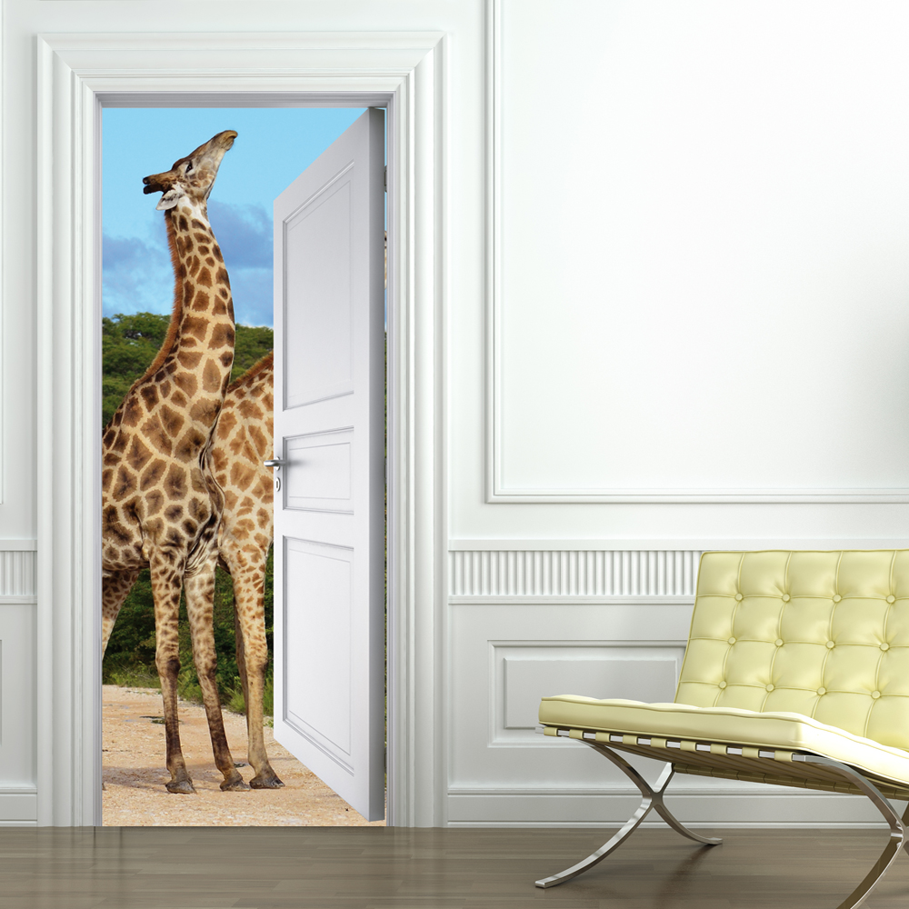 stickers girafes achetez vos stickers moins cher. Black Bedroom Furniture Sets. Home Design Ideas