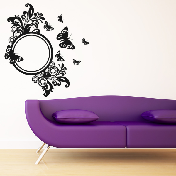 stickers miroir papillons achetez vos stickers moins cher. Black Bedroom Furniture Sets. Home Design Ideas