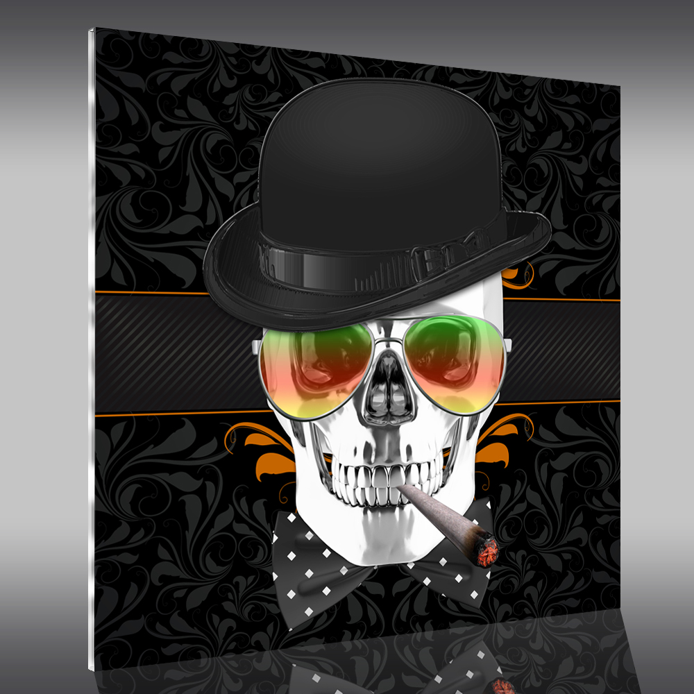 tableau plexi skull achetez vos stickers moins cher. Black Bedroom Furniture Sets. Home Design Ideas